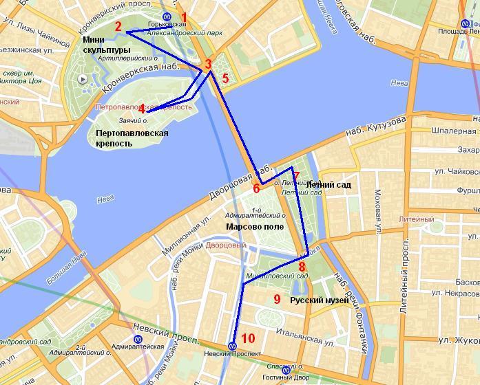 план для туриста в Петербурге