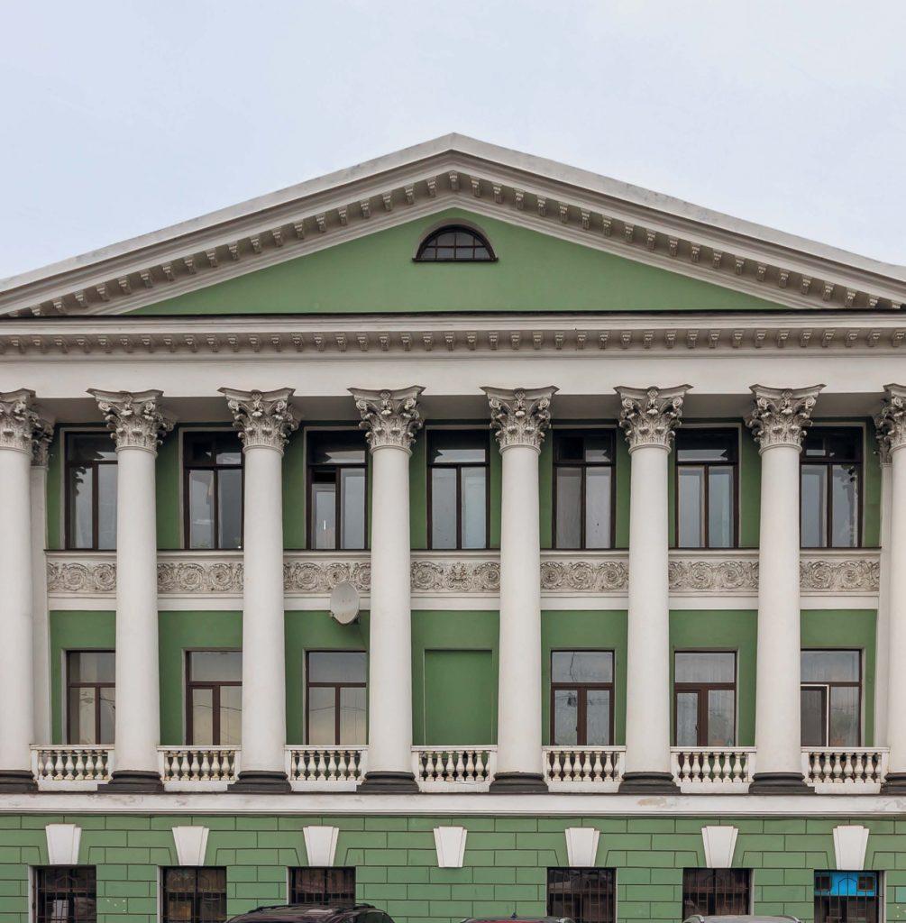 Дом Евментьева, в котором находится Ротонда (улица Гороховая, 57 / набережная Фонтанки, 81)
