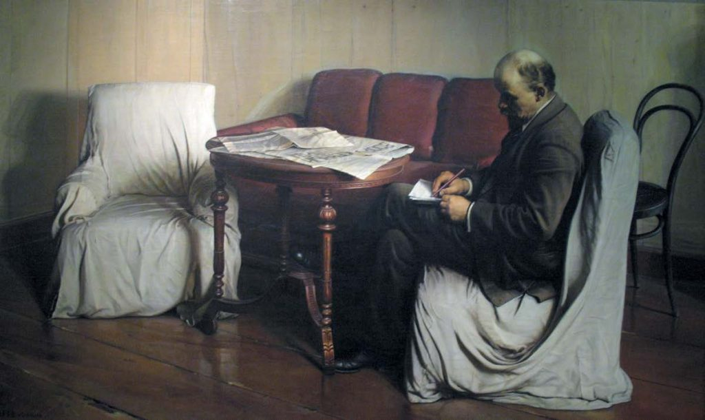Владимир Ильич Ленин в Смольном. Исаак Израилевич Бродский. 1917