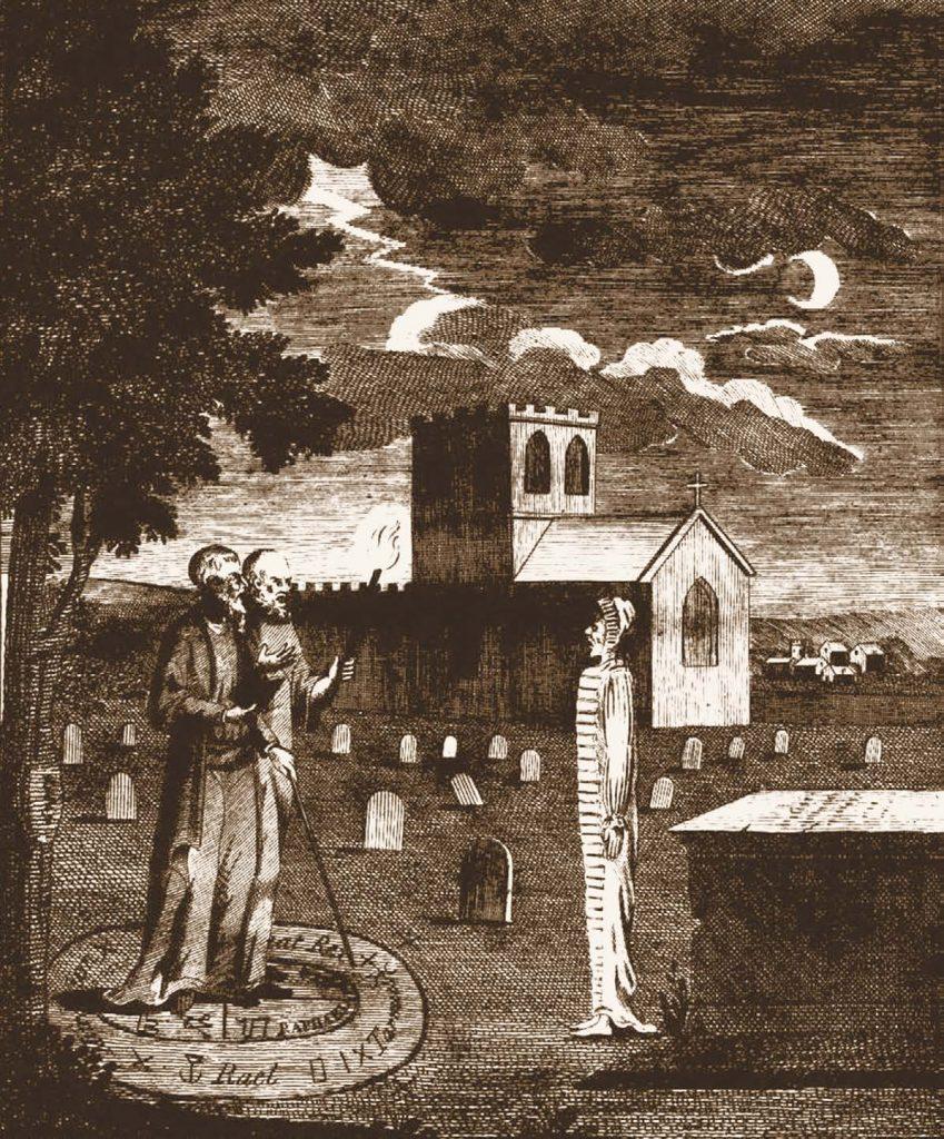 Маг вызывает дух умершего. Гравюра. Эбенезер Сибли. XVIII в.