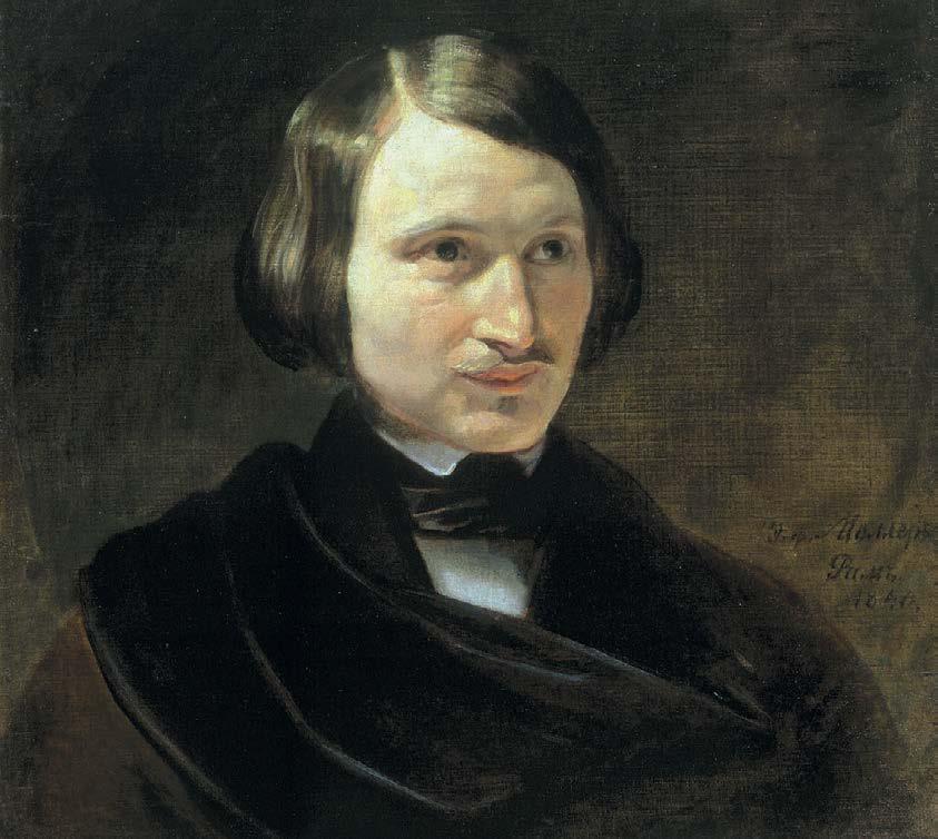 Портрет Николая Васильевича Гоголя. Фёдор Антонович (Отто Фридрих) Моллер. 1840