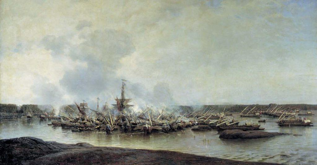 Сражение при Гангуте 27 июля 1714 г. Алексей Петрович Боголюбов. 1877
