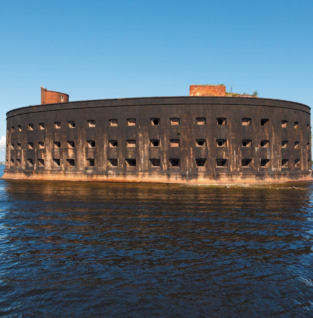 Бревна для строительства фортов доставляли по льду Финского залива