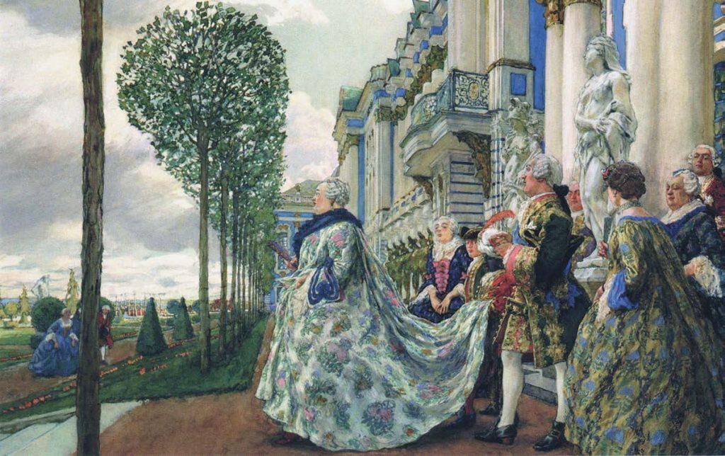 Императрица Елизавета Петровна в Царском Селе. Евгений Евгеньевич Лансере. 1905