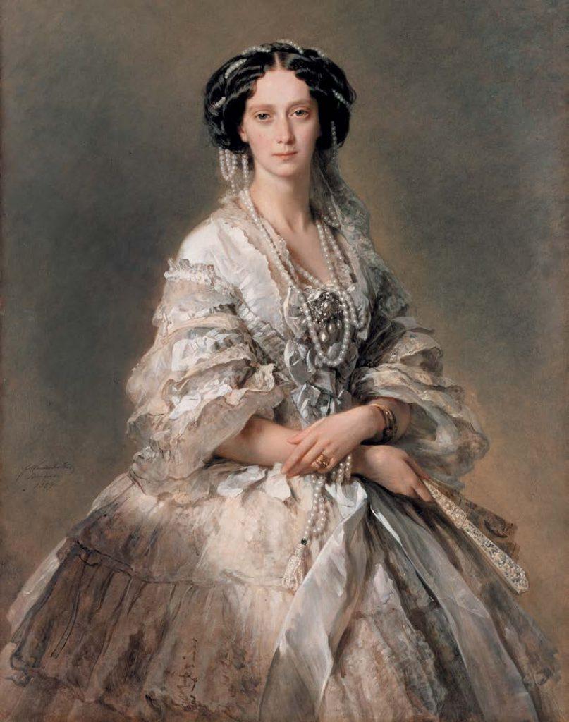 Портрет супруги императора Александра II, Марии Александровны (именно в ее честь Мариинский театр получил свое имя). Франц Ксавер Винтерхальтер. 1857
