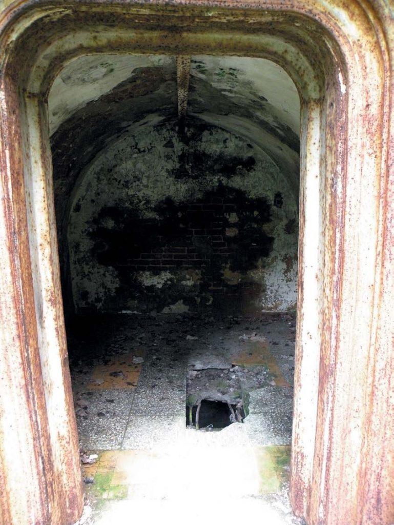 Склеп, выстроенный в готическом стиле, был облицован полированным красным гранитом и украшен литым чугунным кружевом