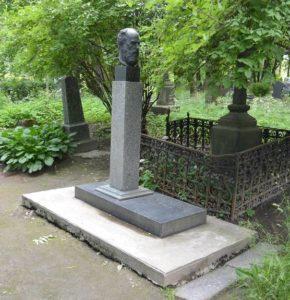 Надгробие П.Ф.Лесгафта в Петербурге на улице Растанная