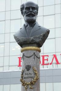 Бюст К.Фаберже в Петербурге на площади Карла Фаберже