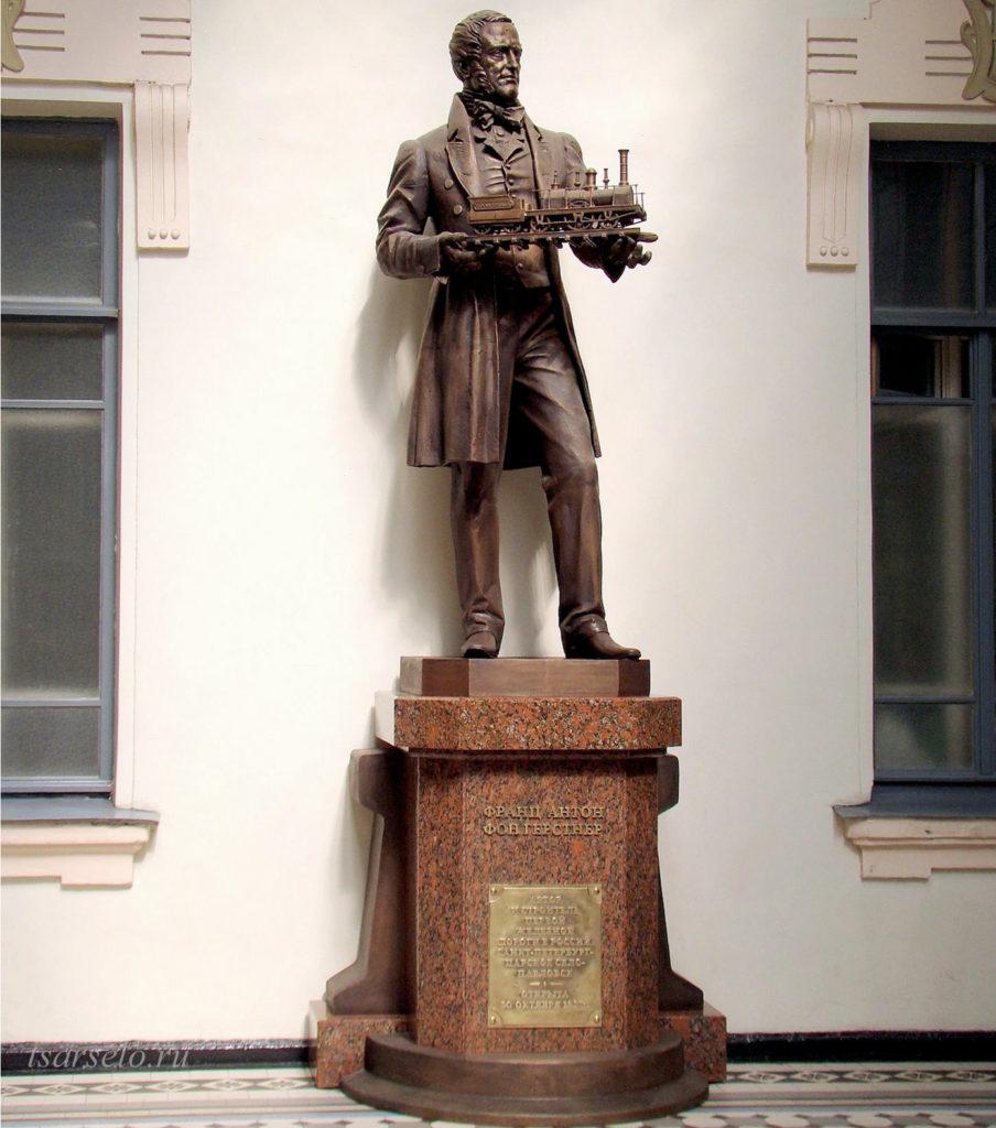 Памятник Ф.А. Герстнеру в Петербурге
