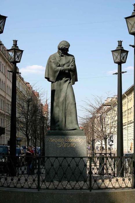 Памятник Н.В. Гоголю в Петербурге
