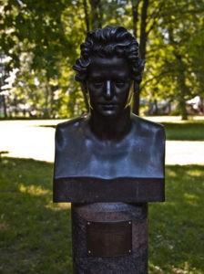 Бюст К.П.Брюллова в Петербурге в Михайловском саду