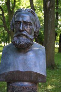 Бюст А.А.Иванова в Петербурге в Михайловском саду
