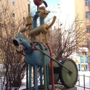 Композиция «Бременские музыканты» в Петербурге на Невском проспекте