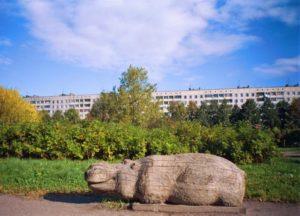 Скульптуры «Медведь», «Заяц», «Сова», «Крокодил», «Бегемот», «Обезьяна» в Петербурге в Муринском парке