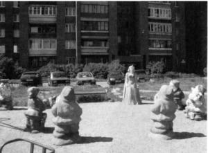 Декоративная фигура «Гномы» в Петербурге на ул. Бутлерова