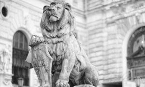 Скульптура «Львы» в Петербурге на Б.Пушкарской