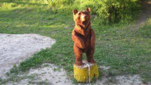Скульптура «Медведь» в Петербурге на ул. Марата
