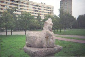 Скульптура «Похищение Европы» в Петербурге на ул. Турку