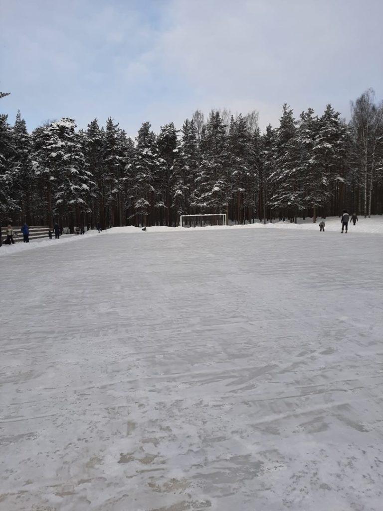 В парке Сосновка залили бесплатный каток
